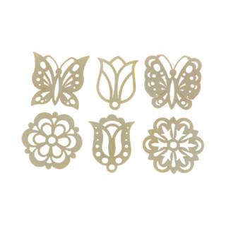 Behang - Blüten, 6er Set, Original Erzgebirge