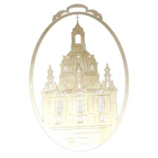 Fensterbild - Dresdner Frauenkirche, unbeleuchtet, Original Erzgebirge