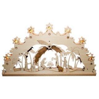 Lichterbogen - Christi Geburt orientalisch, 55cm, Original Erzgebirge