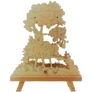 Standleuchte 3D - Rehkitz, Original Erzgebirge