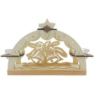 Teelichtbogen - Glocken, Original Erzgebirge