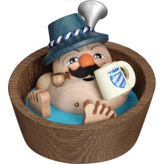 Kugelräucherfigur - Franzl im Pool