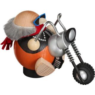 Kugelräucherfigur - Biker