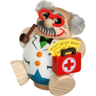 Kugelräucherfigur - Arzt