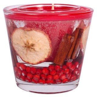 Duftkerze im Glas rot