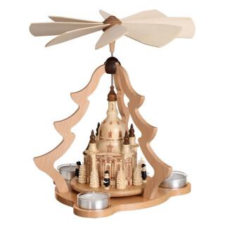 Teelichtpyramide - Dresdener Frauenkirche, groß, natur