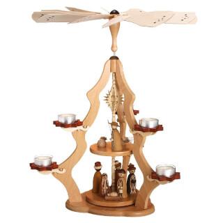 Pyramide 2-stöckig - Christi Geburt, natur