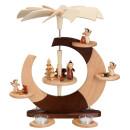 Design-Pyramide - Offener Kreis, Weihnachtsmann und...