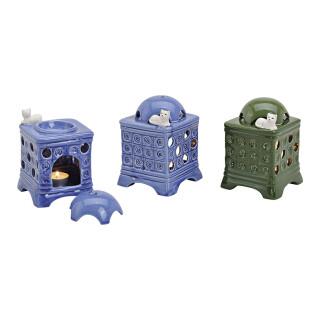 Duftlampe - Kachelofen aus Keramik, 2-fach sortiert