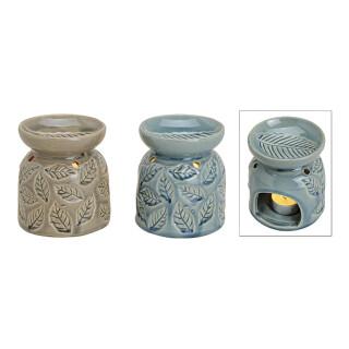 Duftlampe aus Keramik, 2-fach sortiert, B11 x H9 cm
