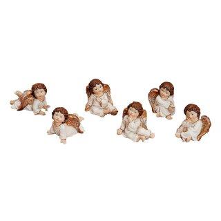 Engel sitzend/liegend aus Poly, sortiert, 5 cm