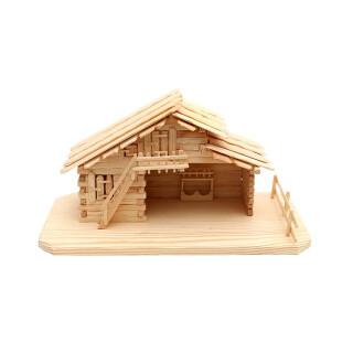 Holz Stall leer klein, natur