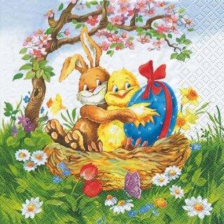 Serviette - Easter Friends