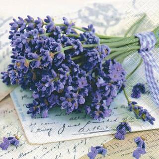 Serviette - Lavender Greetings