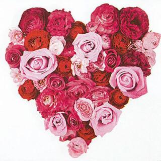 Serviette - Heart of Roses