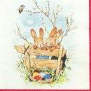 Serviette - Bunny Friends