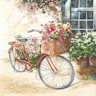 Serviette - Flower Bike