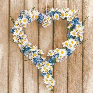 Serviette - Daisy Hearts
