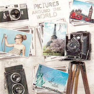 Serviette - Travel Pictures