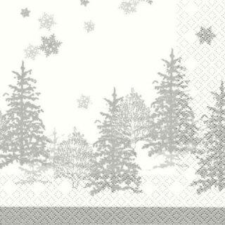 Serviette - Tree and Snowflakes