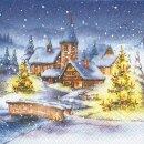 Serviette - Christmas Village