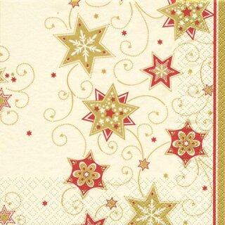 Serviette - Stars & Swirls gold