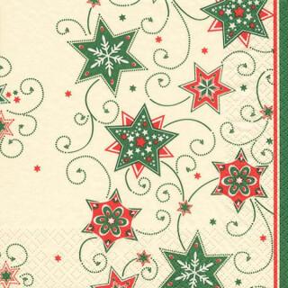 Serviette - Stars & Swirls green