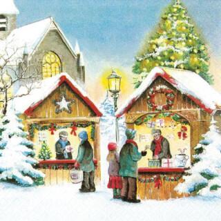 Christmas Market Serviette