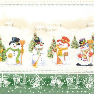 Serviette - Snowman Meeting