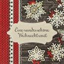 Serviette - Wunderschöne Weihnachtszeit