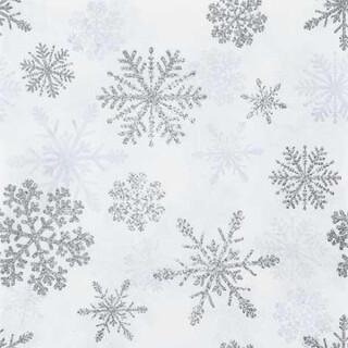 Serviette - Snow Crystals silver