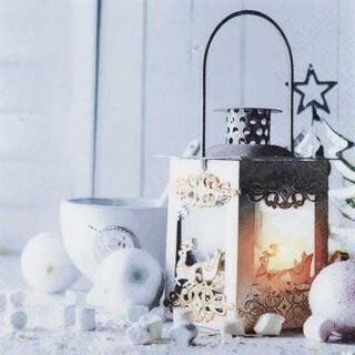 Serviette - White Lantern