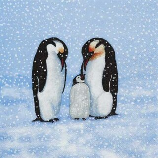 Serviette - Penguin Family