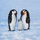 Serviette - Penguin Family