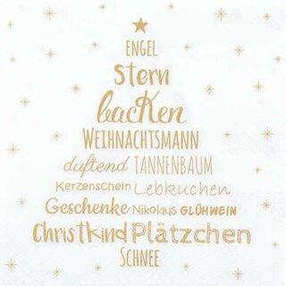 Serviette - Weihnachtszeit gold