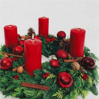 Serviette - Advent Wreath