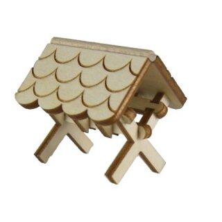 Futterkrippe mini - Dach abgerundet - H 35 mm