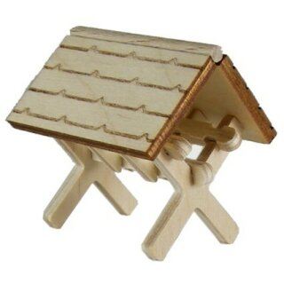 Futterkrippe mini - Dach gerade - H 35 mm
