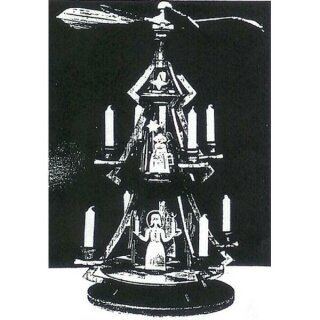 Vorlage - Adventspyramide - H 50 cm