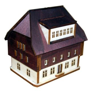 Bausatz Lichterhaus Modell 2, unbemalt - H 75 mm - B 100 - T 65 mm