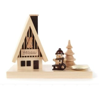 Räucherhütte - Schneemann