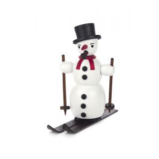 Räucherfigur - Schneemann auf Ski
