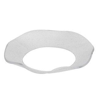 Glas Manschette für Teelichte gewellt 70/40 mm