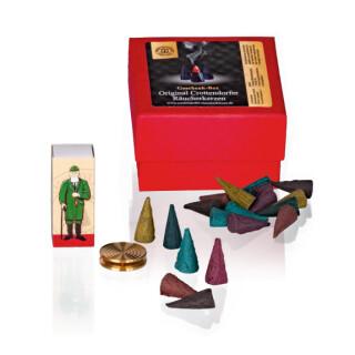 """Geschenkbox """"Bunte Riesen"""" mit Messingschale + Streichhölzer"""