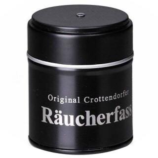 Crottendorfer Räucherfass mit RK-Halter und 20 RK gef. mit Weihrauch