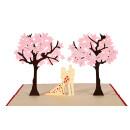 Klappkarte - Paar unter Bäumen