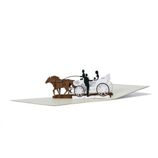 Klappkarte - Hochzeitskutsche