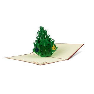 Klappkarte - Weihnachtsbaum