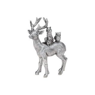 Hirsch aus Poly Silber