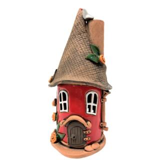 Räucherhäuschen - Kleiner Turm, rot